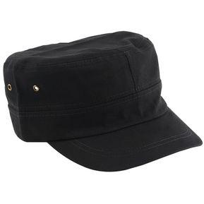 ER Classic Army Ajustable Summer Fashion Llanura Vintage Gorra Cadete Gorra Tipo  Militar Negro. b63fc223125