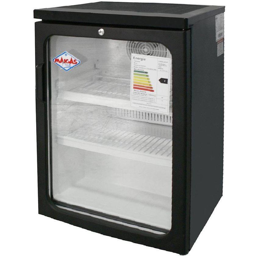 Visi-Cooler 1 puerta 120 litros negro Maigas