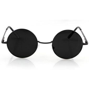 f0ca3c315f Agotado Gafas De Sol Estilo Vintage Marco Lente Retro Redondas Moda Para  Mujer Hombre Unisex - Negro