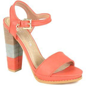 Calzado Cloe Sandalia Con Contraste De Color - Naranja Talla 26 2df48211e60
