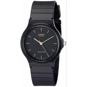 Compra Pareja De Relojes Casio MQ24 Y LQ139 Caucho- Negro Con Dorado ... f29c2838daf
