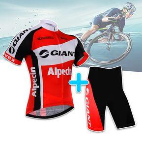 93a68ec6 Uniforme Ciclista Manga Corta Mtb Ruta Badana Gel Ciclismo Giant