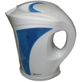 Pava Eléctrica Suzika 2 Lts. – Blanco Con Azul