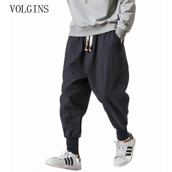 Streetwear Pantalones Harem Para Hombres Estilo Japones Casual Algodon Lino Pantalones Hombre Jogger Pantalones Chinos Holgados De Talla Grande Chun Navy Linio Peru Ge582fa092qlnlpe
