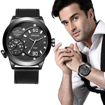 b44655883f4b Compra Reloj Moda Hombres Smael Correa Cuero Cuarzo Calendario ...