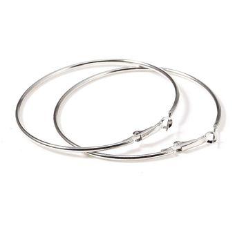 7e048076806c Compra Manera Grandes Pendientes De Aro Redondo Para Mujer-plata ...