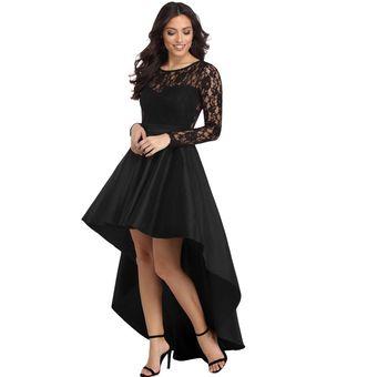 Vestido De Noche Para Fiestas Genérico Mujer Negro