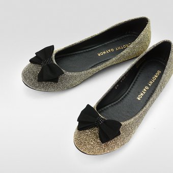 20ac498bf45 Compra Zapatos Mujer Dorothy Gaynor Balerinas Con Moño - Oro online ...