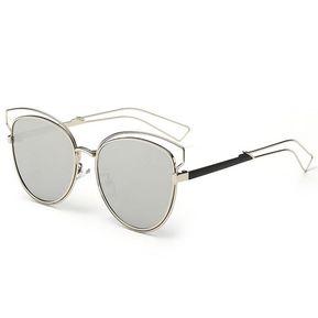 a55a3599c6 EH Moda Mujer Vintage Tonos Gafas De Sol Gafas De Ojo De Gato 2217-Plata