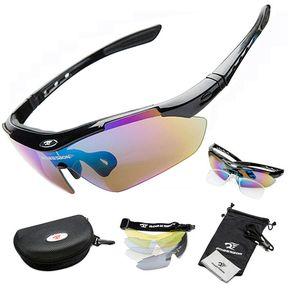 c623a224f9 ROBESBON Bicicleta Profesional Ciclismo Gafas Gafas De Sol Deportivas  Myopia Gafas UV400 5 Color Lente Negro