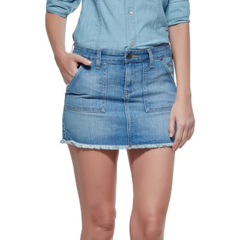 3577c2c50 Falda De Mezclilla Innermotion Jeans Para Dama1197 - Azul