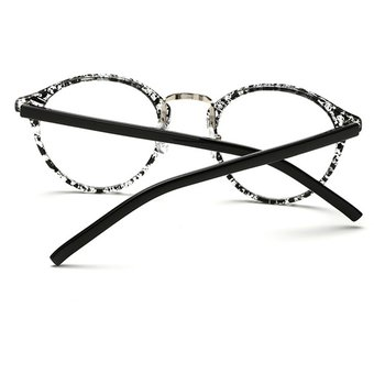 Agotado Vintage ópticos Gafas Redondo Los Anteojos Grande Marco Uni Estudiante  Miopía -Negro Transparente 55ce9c13a91e
