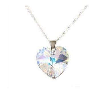 3268a46ce03a Collar Mujer Corazón Cristal Swarovski - Cristal Aurora Boreal