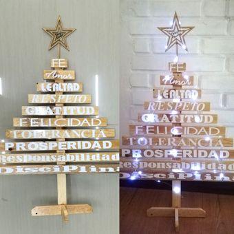 5cc0160a558ec Compra Arbol Navidad Madera Vintage 90 Cm + Instalación Luz Led ...