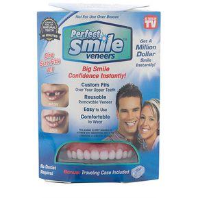 Sonrisa Perfecta Chapa Superior Comfort Flex Blanqueamiento Dentaduras  Falsas Pegar Dientes Más Blancos Y Rojos 1abfb408cae9