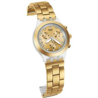 Compra Reloj Swtach SVCK 4032 Dama Dorado online  999f466a3917