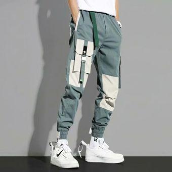 Joggers Pantalones Para Hombre Casual Streetwear Harajuku Pantalones Sueltos Moda Japon Moda Cintura Elastica Hombres Ropa Lapiz Pantalones Wot Green Linio Mexico Ge598fa1kywgnlmx