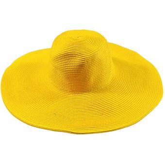 E-Thinker Sombrero Para El Sol Para Playa Sombrero Grande Gorra-Amarillo 956269b5a50