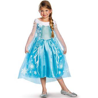 Set Disfraz Frozen Elsa Para Niña
