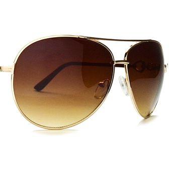052dff0567 Agotado Gafas Para Hombre Mujer De Sol Aviador Piloto Accesorios Deportes  Café