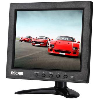 Escam T08 8 Pulgadas TFT LCD De Pantalla De 1024x768 Con VGA Y BNC Y HDMI Y AV Y USB Para PC Seguridad Cctv