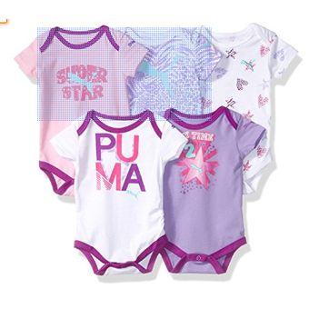 Compra PUMA Pack 5 Bodys Bodysuits Bebecrece Bebe Niña 6-9 Meses ... 889744a1ca15