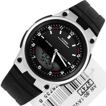 2e2929f4b99c Compra Reloj Casio AW80-1AV Goma Telememo Análogo Digital - Negro ...