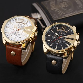 b36f3d8e6ab8 Compra Dial Grande Reloj Moda Hombre Curren Analogo Cuero online ...