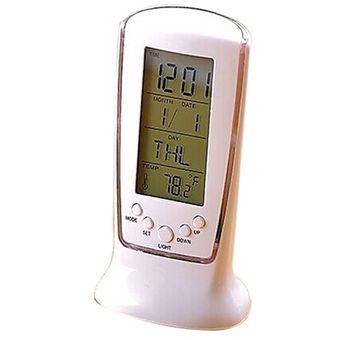 Agotado Pixnor Con Pilas De Reloj Digital LED Con Alarma   Fecha    Termómetro   Luz   e662e8819811