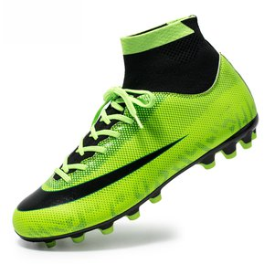 75f531aa5d2 Zapatillas de deporte de entrenamiento de fútbol Boy Lace Up-Verde