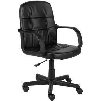 Compra silla escritorio oficina con brazos negro neumatica for Silla escritorio con brazos