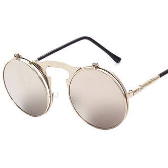 8c445e7e84 Compra Gafas De Sol Gafas De Protección UV Moda Ronda Hombre Mujer ...