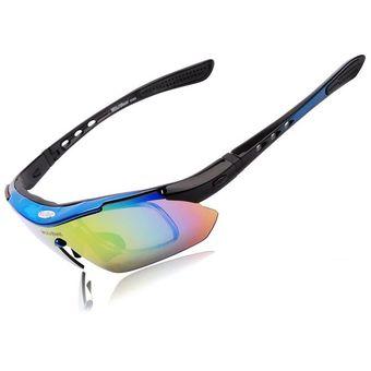 48153545b5 Compra Lentes deportivos Wolfbike con micas intercambiables -Azul ...