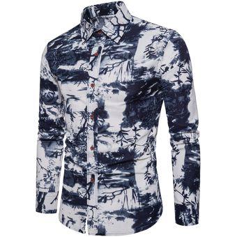 26e8c11373 Compra Camisa de vestir de estampado de flores de moda para hombre ...