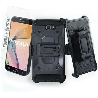 ba8dd200073 Funda Samsung J7 Prime Tipo Metal + Cristal - Knasta