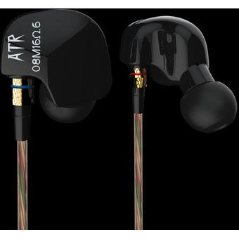 EH Navidad KZ-auriculares Bajos Para Los Oídos ATR (sin Trigo)-negro