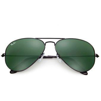cd298fc40 Compra Gafas De Sol Ray Ban Aviator 3026 L2821 Negro / Verde 62mm ...
