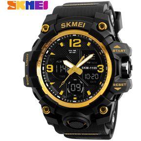 125a418a8cc9 SKMEI 1155B 50M Impermeable Reloj Deportivo Multifunción - Oro
