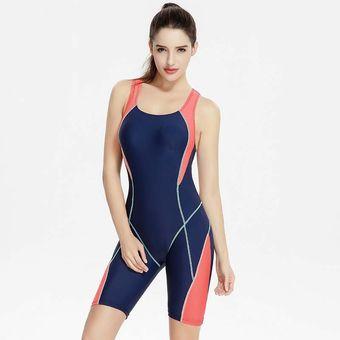 Mujeres Traje De Baño De Sports Body Más Tamaño Natación Baños Traje - Azul f3a8fd8c20bd