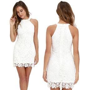 Vestidos cortos sencillos casuales blancos
