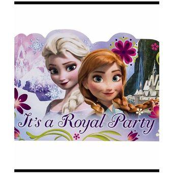 Tarjetas De Invitación Frozen Por 8 Unds Gratis El Segundo Paquete