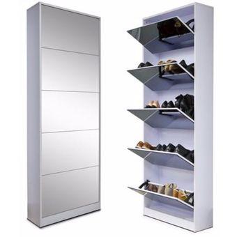 Mueble zapatero para 30 pares de zapatos espejo linio - Muebles de zapatos ...