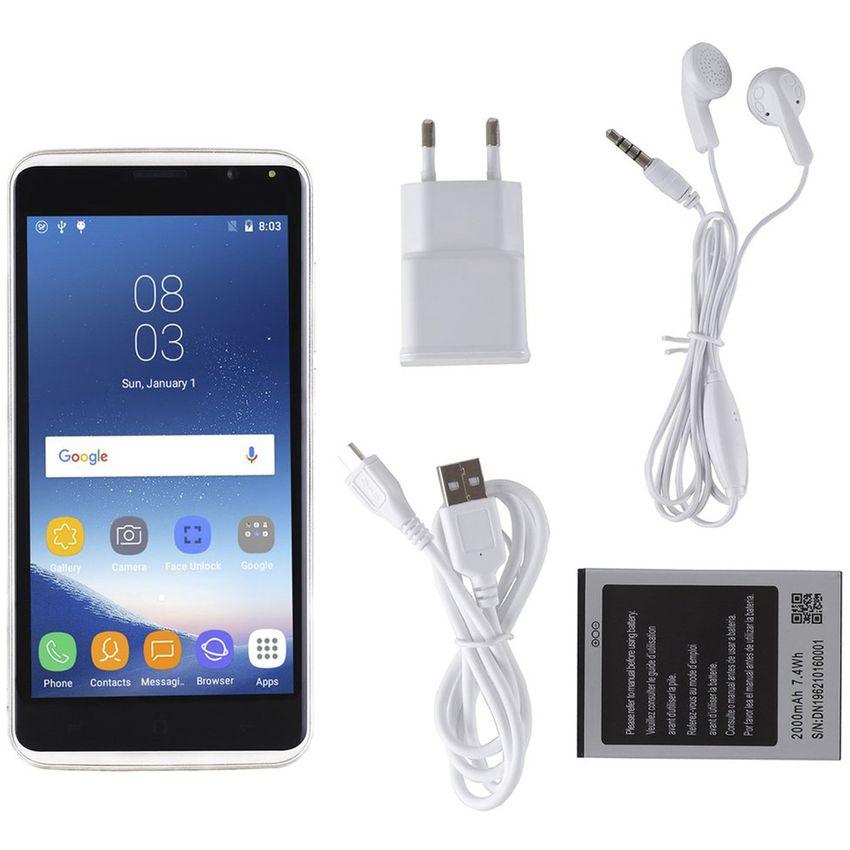 ER S8 Ligero 5.0 Pulgadas Pantalla IPS 512MB RAM 4GB ROM 3G Teléfono Para Android 5.1. -Blanco