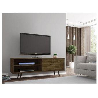 Compra rack onix madera r stico tv 32 a 55 ikean for Mesa para tv 55 pulgadas