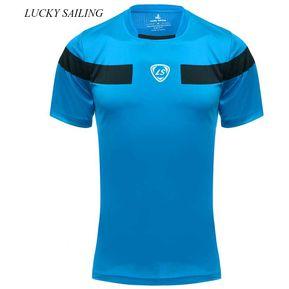 975dc2857e3b5 LUCKY SAILING Outdoor Color Block Short Sleeve (LAKE BLUE)