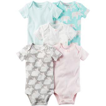 Compra Carter s 5 Bodysuits De Algodón Para Bebé Niñà - Animalitos ... 5088cf4f2341