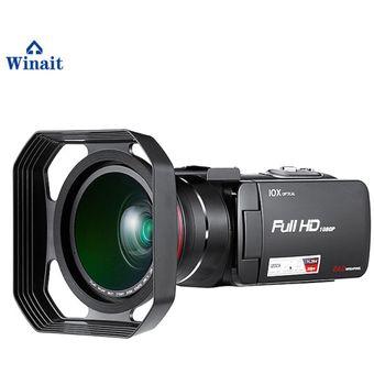 Envío gratuito 10X Zoom óptico 120X Zoom Digital de la cámara de vídeo  profesional 24Mp 3,0