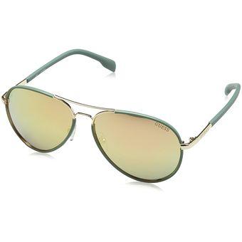 Compra Guess - Lentes De Sol GF0261-32G Green Aviator Para Mujer ... f91625721e33