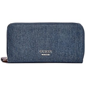16f21e9c Billetera Guess Mujer - Mila Printed Zip-Around Wallet - Jean