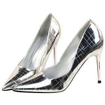 0fea6c85 Compra Elegante Patrón de piedra Mujer Zapatos de Tacón la ...